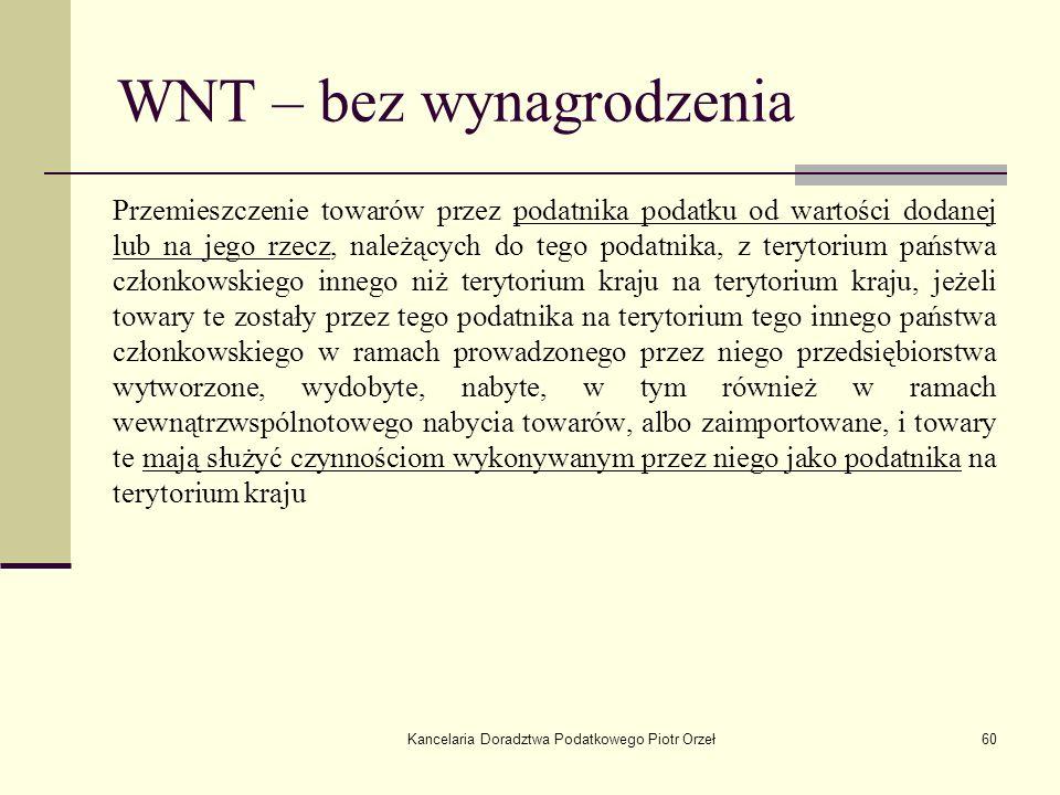 WNT – bez wynagrodzenia