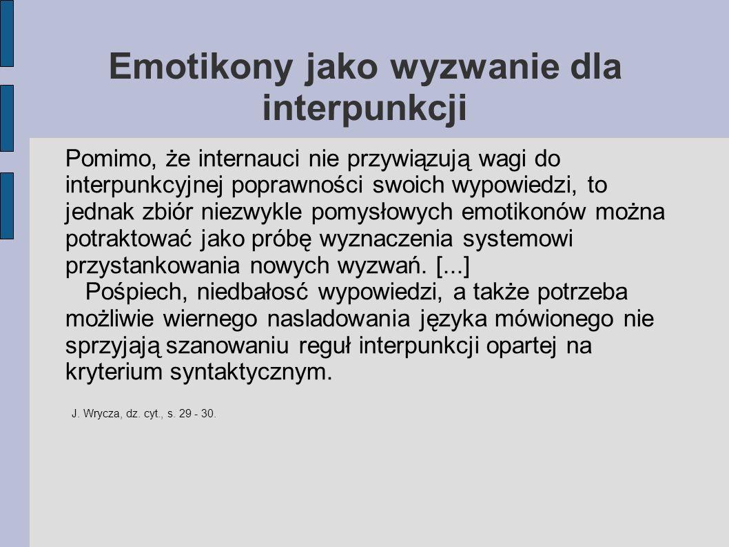 Emotikony jako wyzwanie dla interpunkcji
