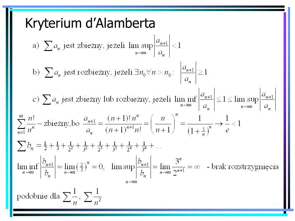 Kryterium d'Alamberta