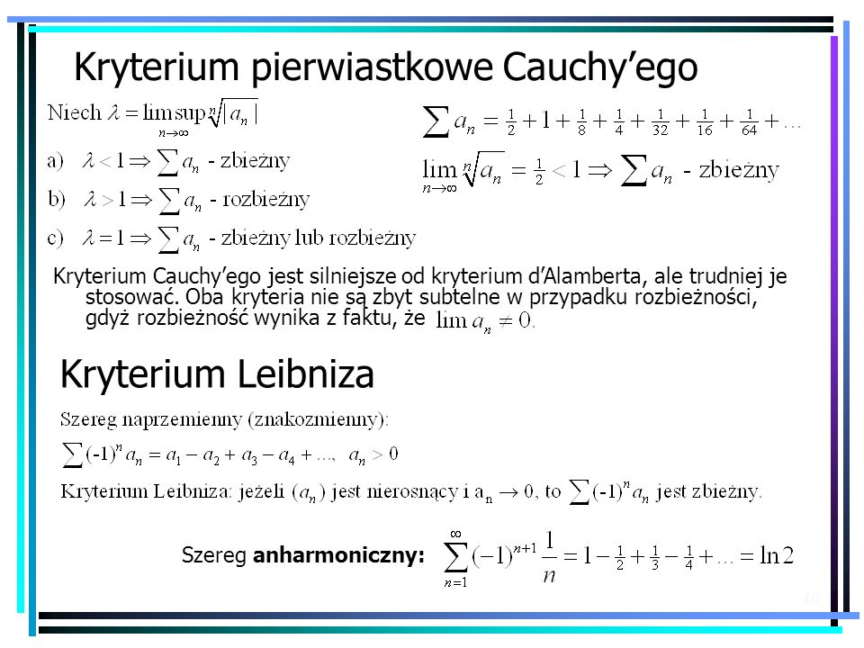 Kryterium pierwiastkowe Cauchy'ego