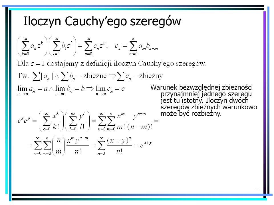 Iloczyn Cauchy'ego szeregów