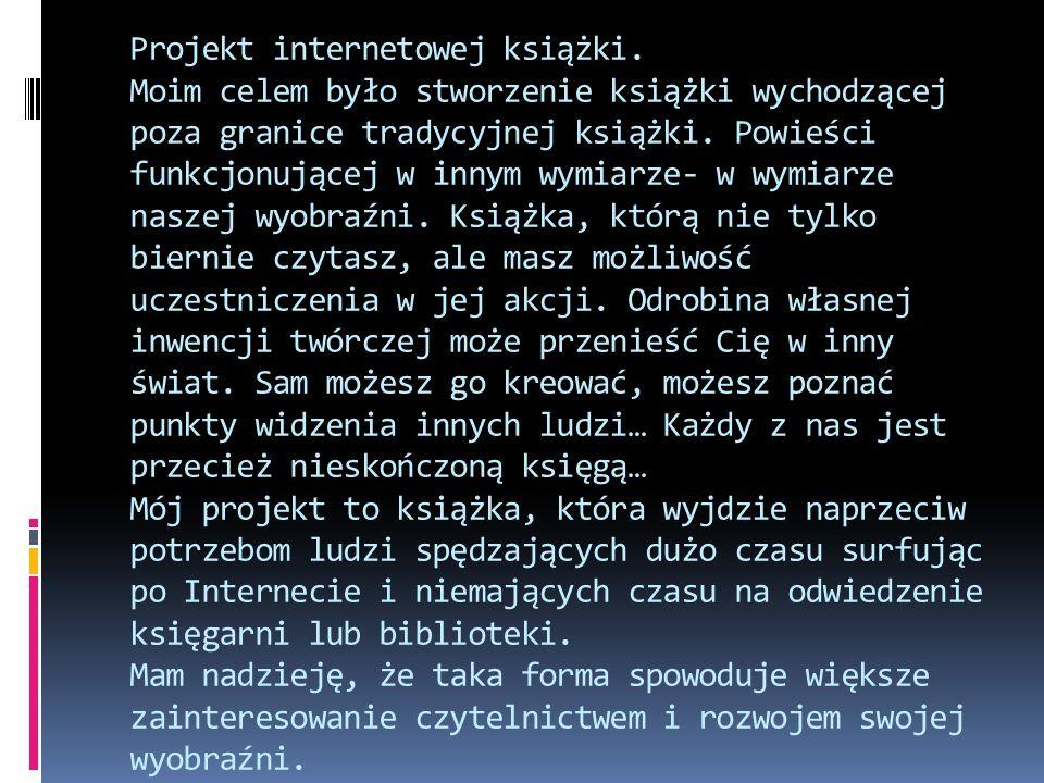 Projekt internetowej książki