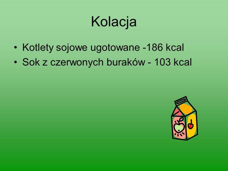 Kolacja Kotlety sojowe ugotowane -186 kcal
