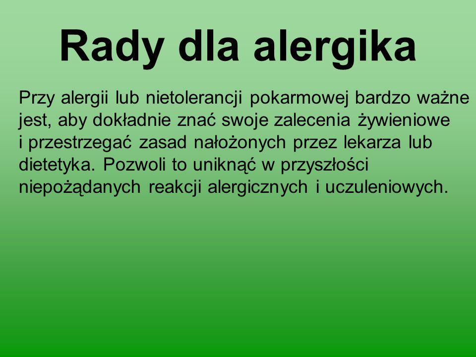 Rady dla alergika