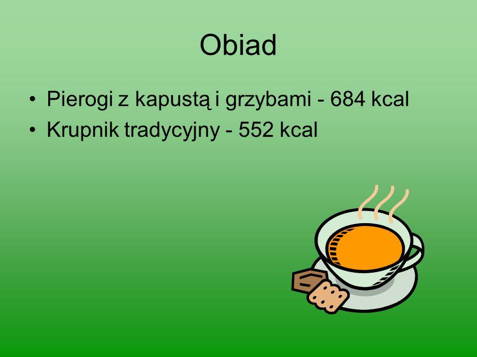 Obiad Pierogi z kapustą i grzybami - 684 kcal