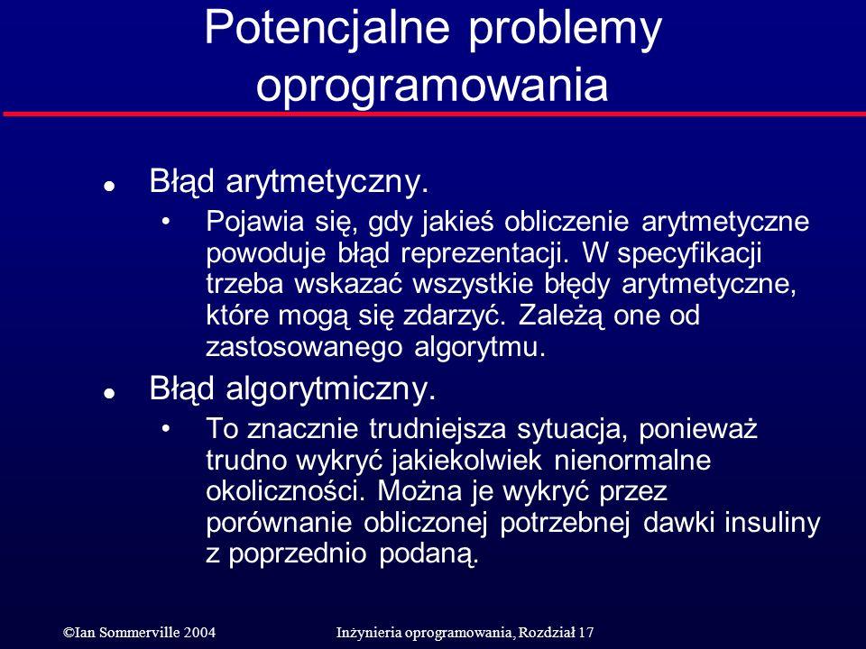 Potencjalne problemy oprogramowania