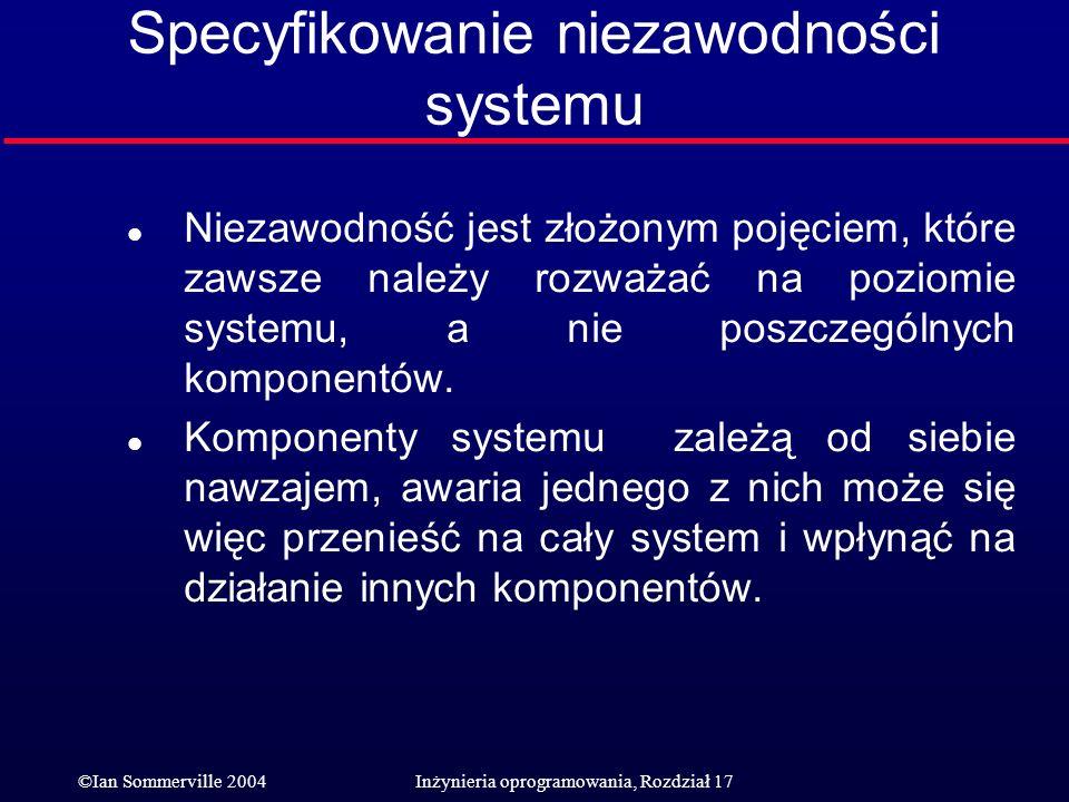 Specyfikowanie niezawodności systemu