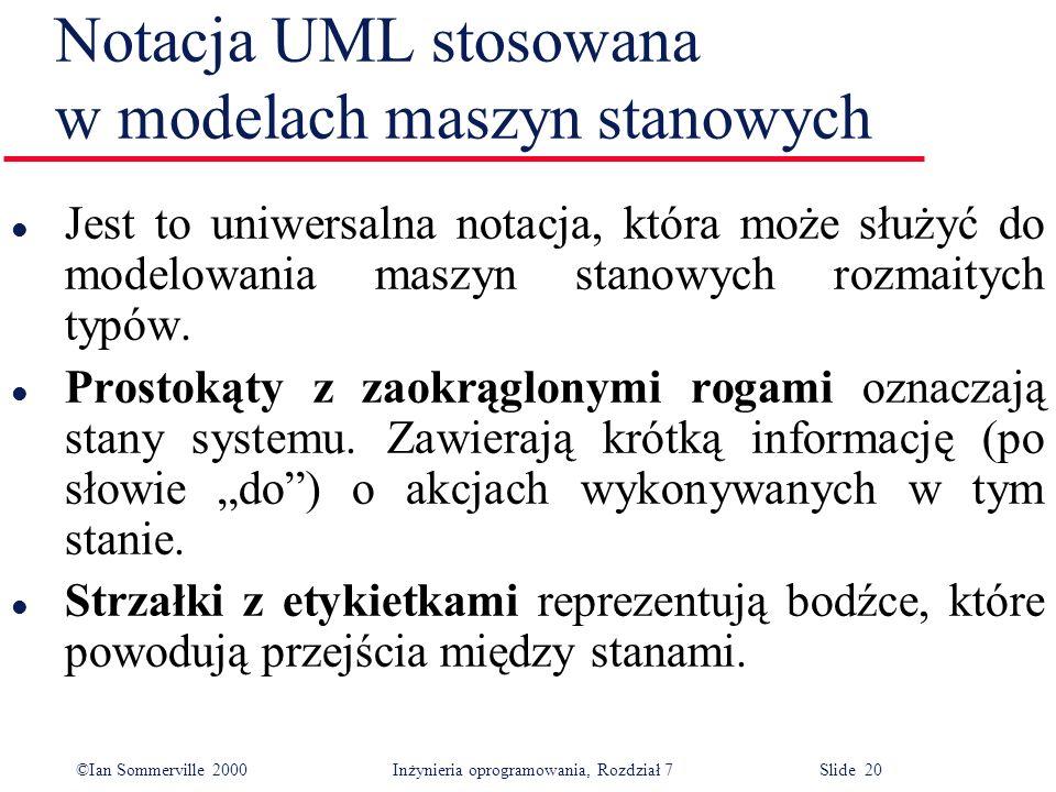 Notacja UML stosowana w modelach maszyn stanowych
