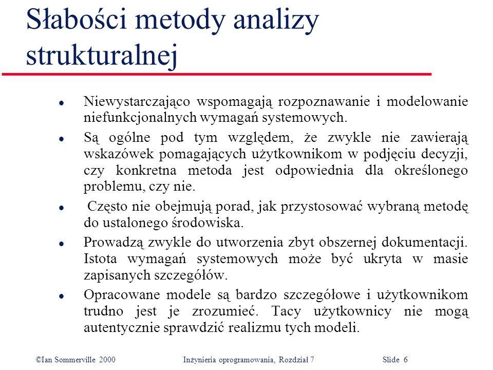Słabości metody analizy strukturalnej