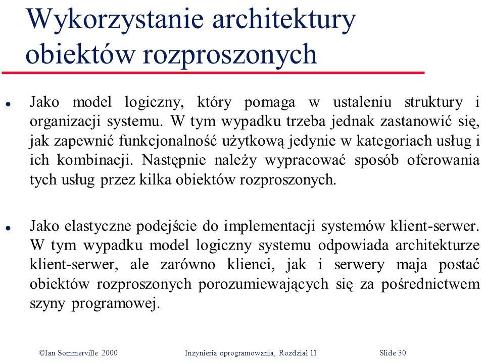 Wykorzystanie architektury obiektów rozproszonych