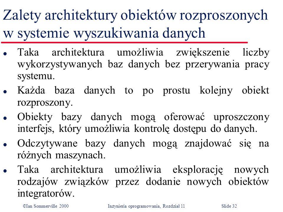 Zalety architektury obiektów rozproszonych w systemie wyszukiwania danych