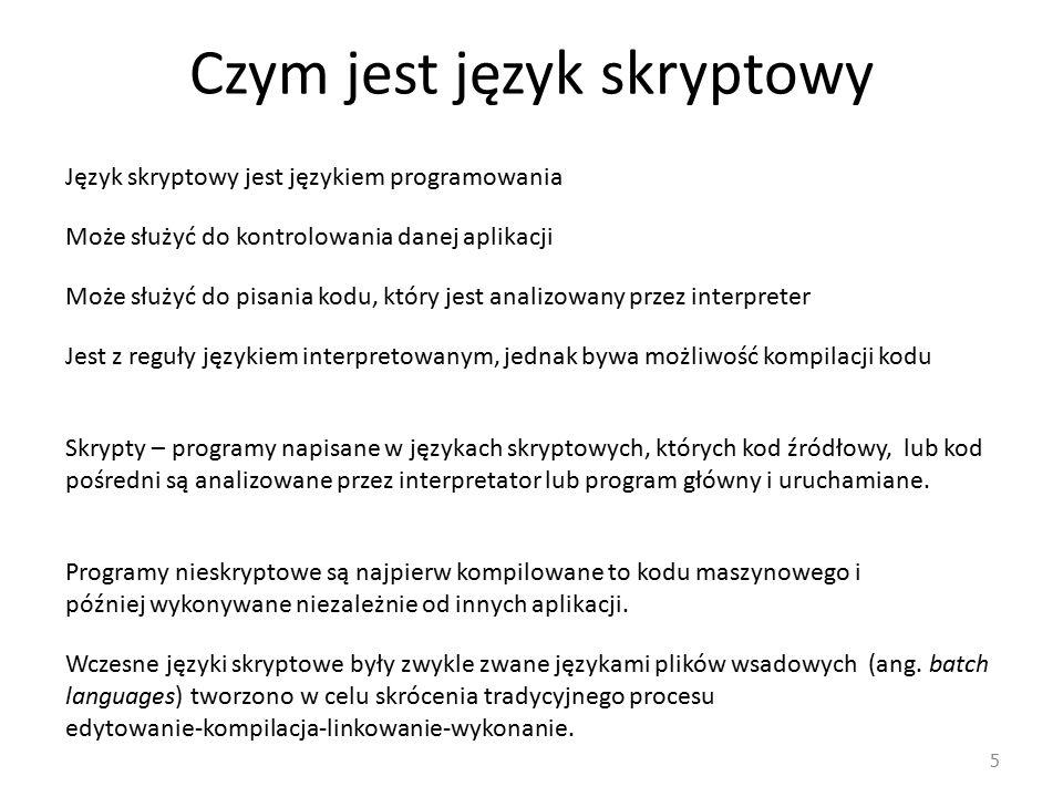 Czym jest język skryptowy