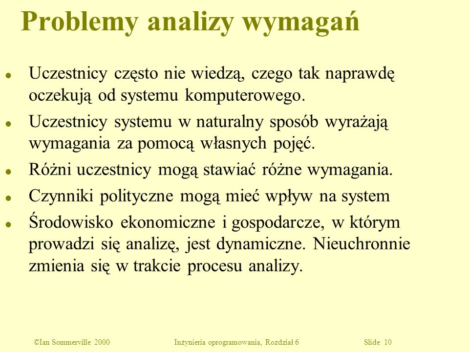 Problemy analizy wymagań