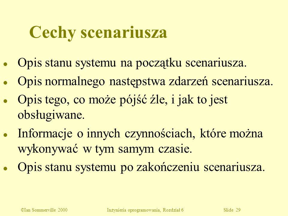 Cechy scenariusza Opis stanu systemu na początku scenariusza.