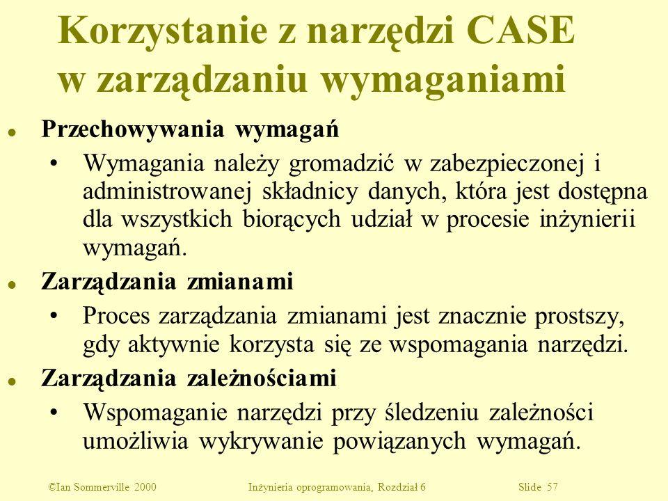 Korzystanie z narzędzi CASE w zarządzaniu wymaganiami