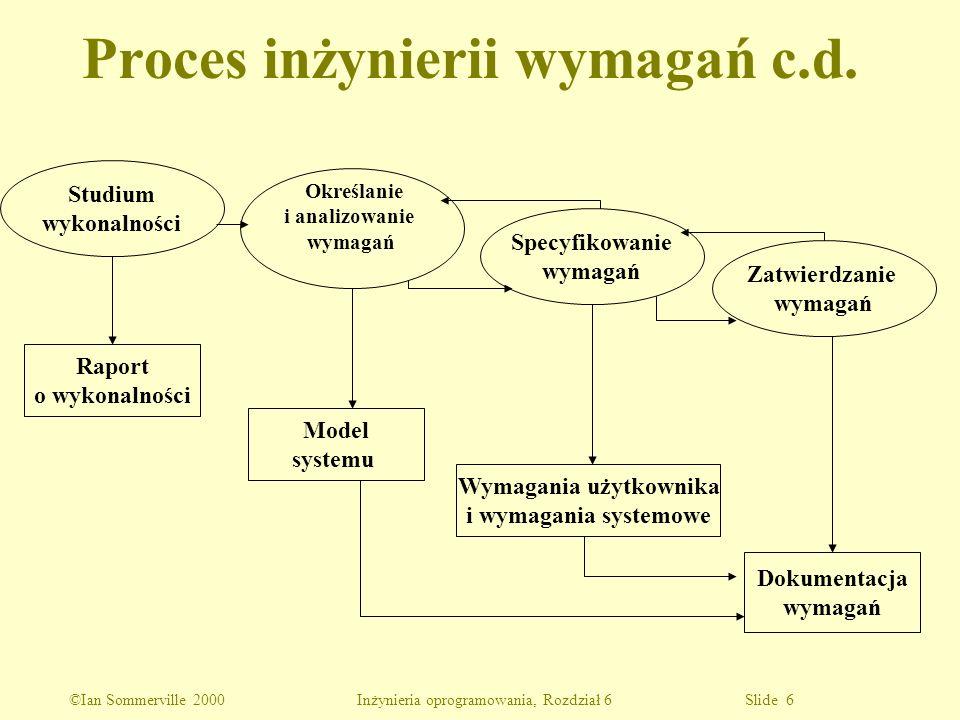 Proces inżynierii wymagań c.d.