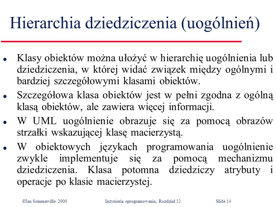 Hierarchia dziedziczenia (uogólnień)