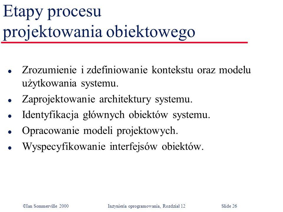 Etapy procesu projektowania obiektowego