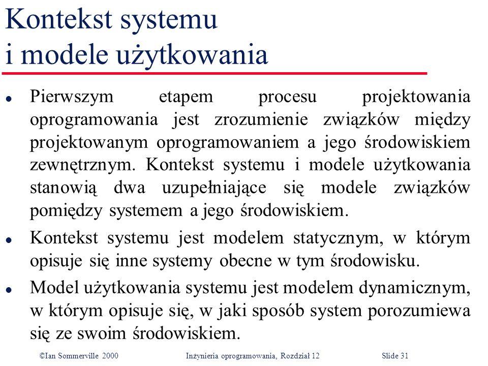 Kontekst systemu i modele użytkowania