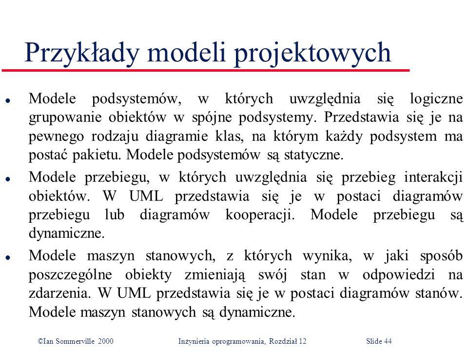 Przykłady modeli projektowych