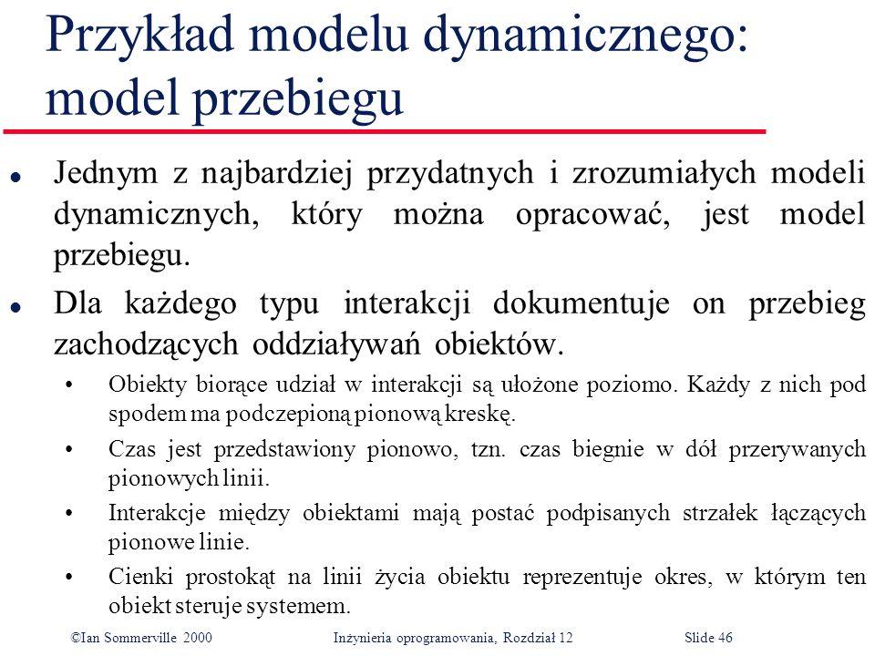Przykład modelu dynamicznego: model przebiegu
