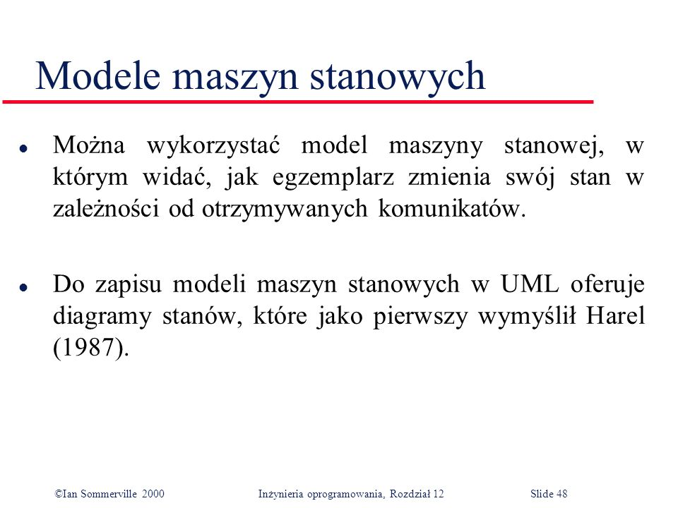 Modele maszyn stanowych
