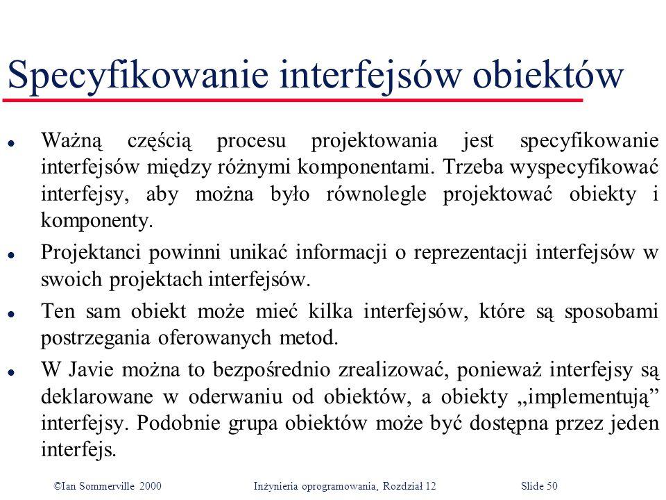 Specyfikowanie interfejsów obiektów