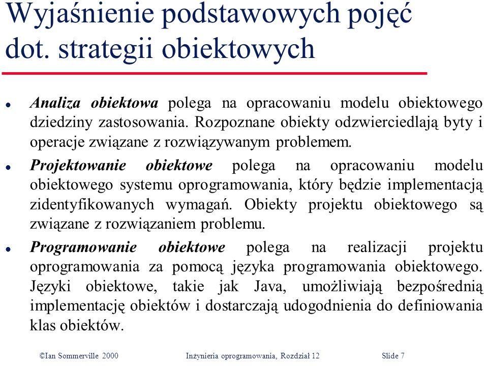 Wyjaśnienie podstawowych pojęć dot. strategii obiektowych