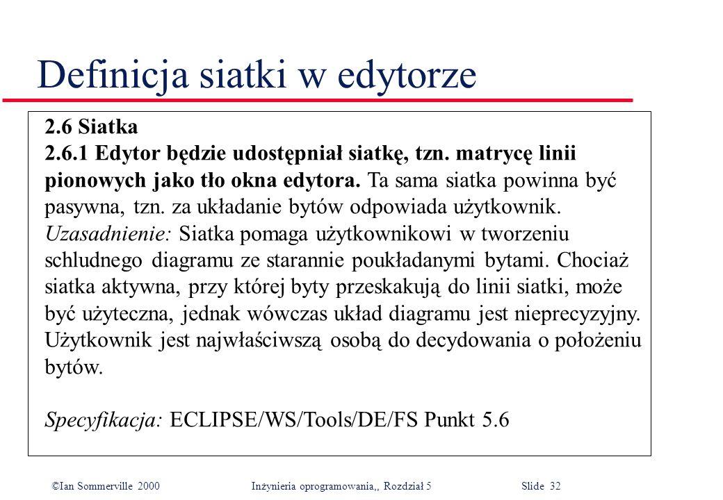 Definicja siatki w edytorze