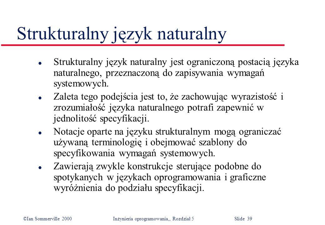 Strukturalny język naturalny