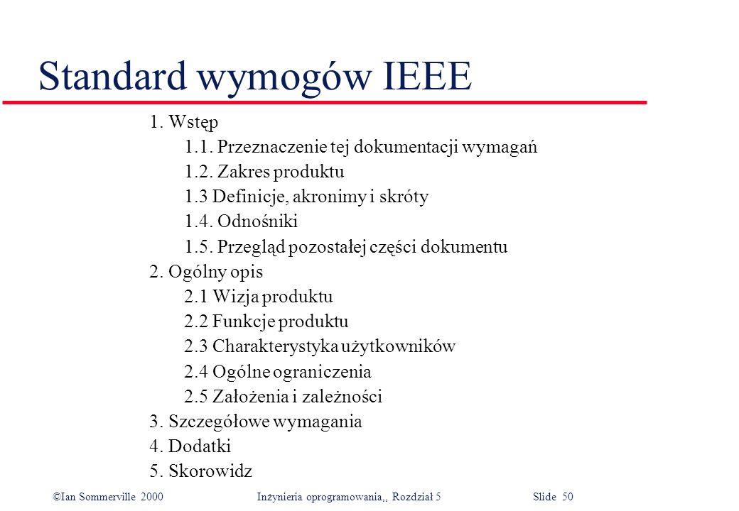 Standard wymogów IEEE 1. Wstęp