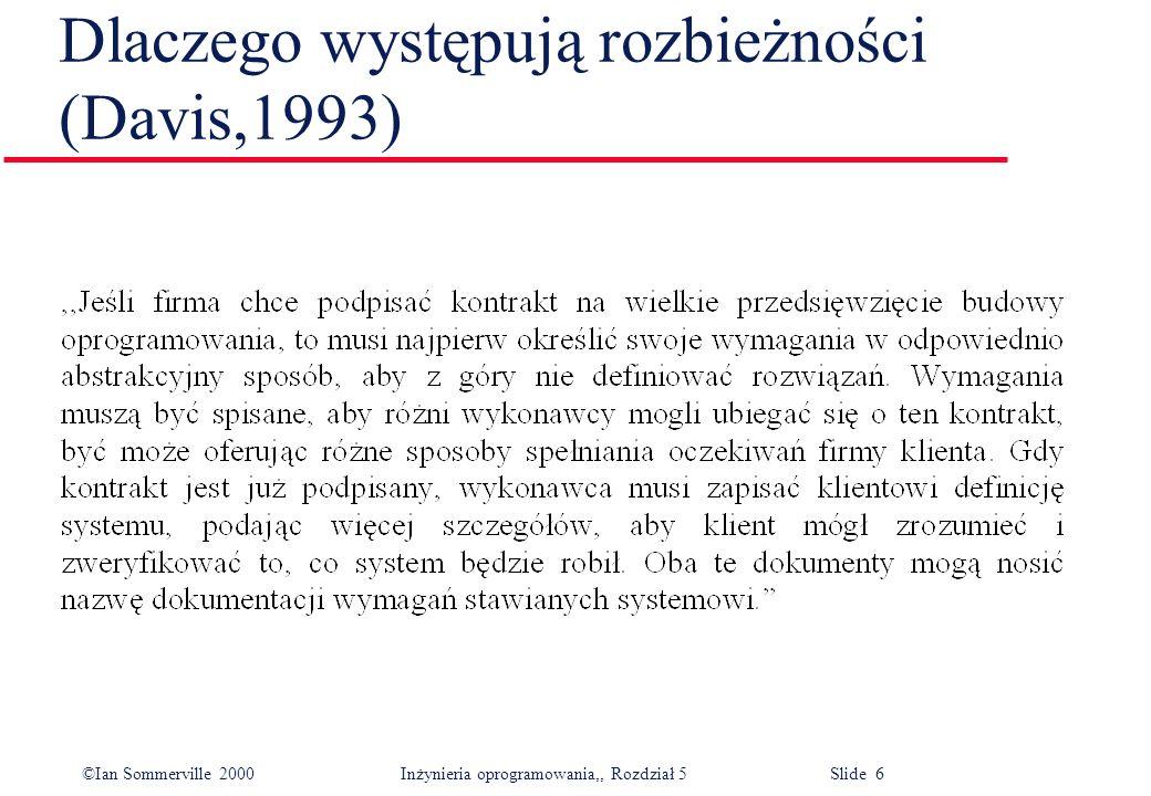 Dlaczego występują rozbieżności (Davis,1993)