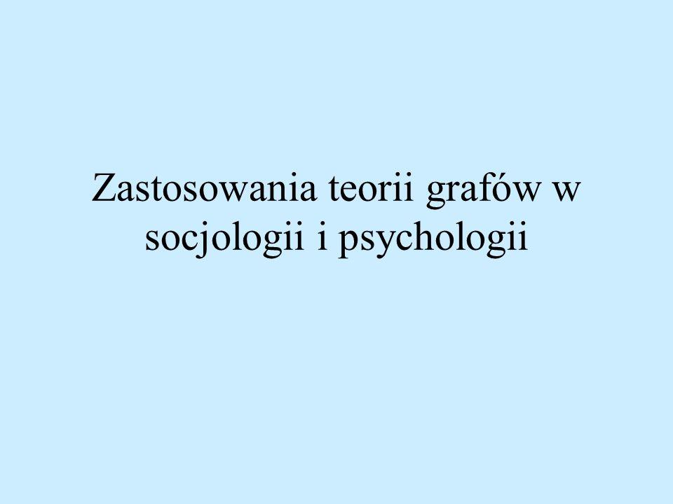 Zastosowania teorii grafów w socjologii i psychologii