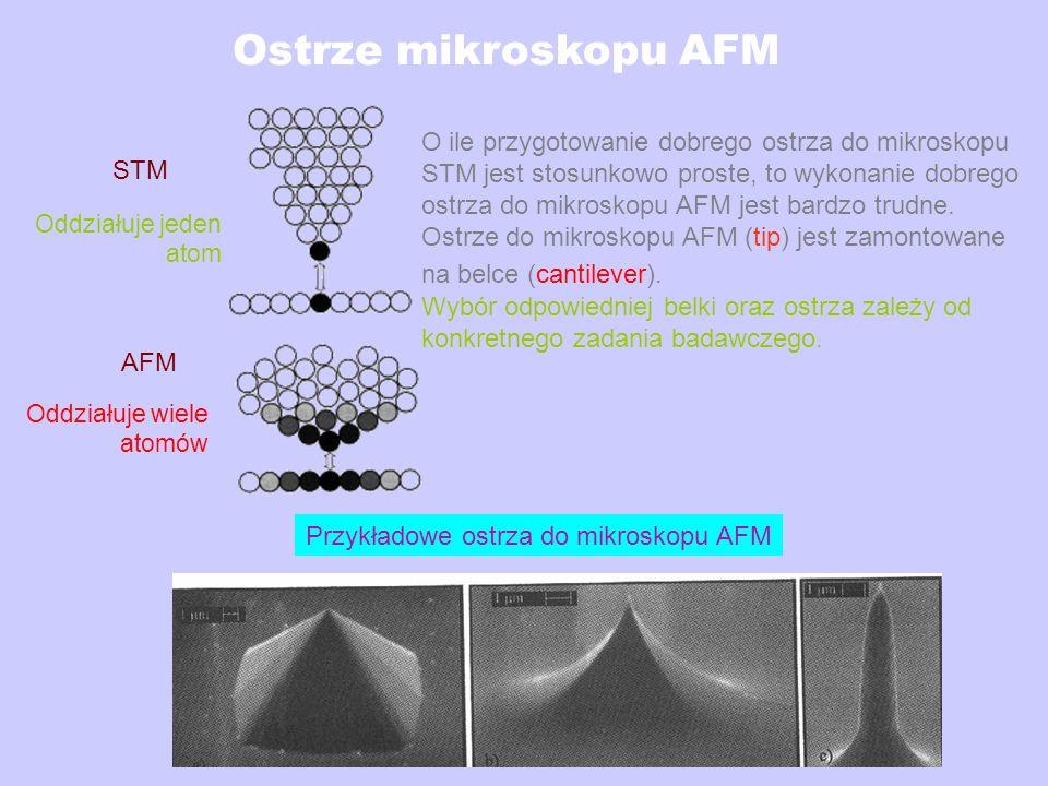 Ostrze mikroskopu AFM