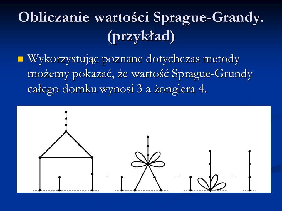 Obliczanie wartości Sprague-Grandy. (przykład)