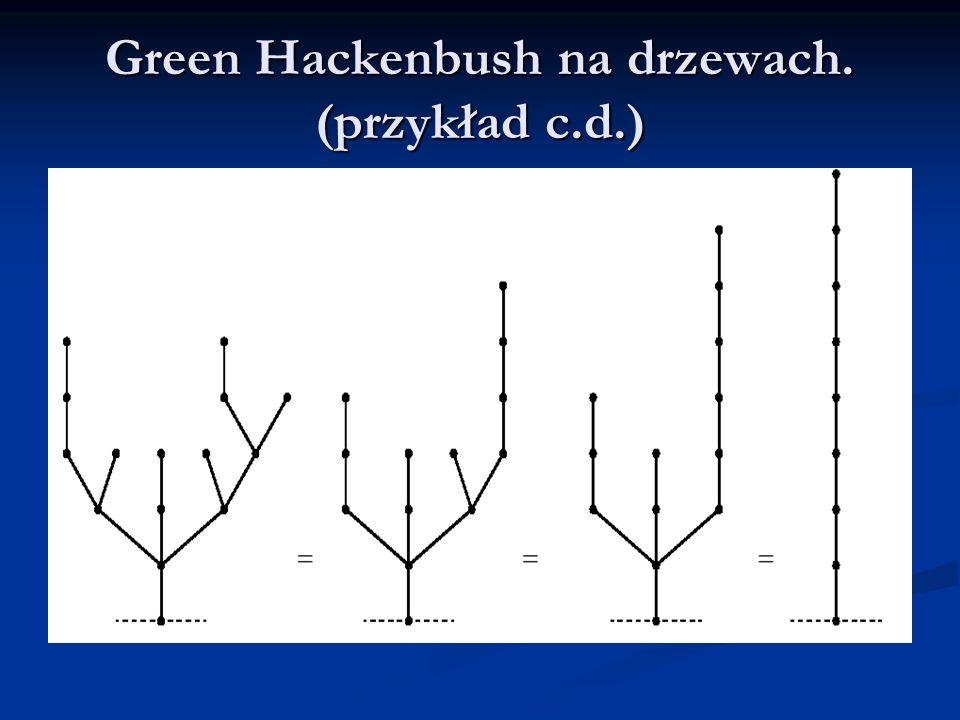 Green Hackenbush na drzewach. (przykład c.d.)