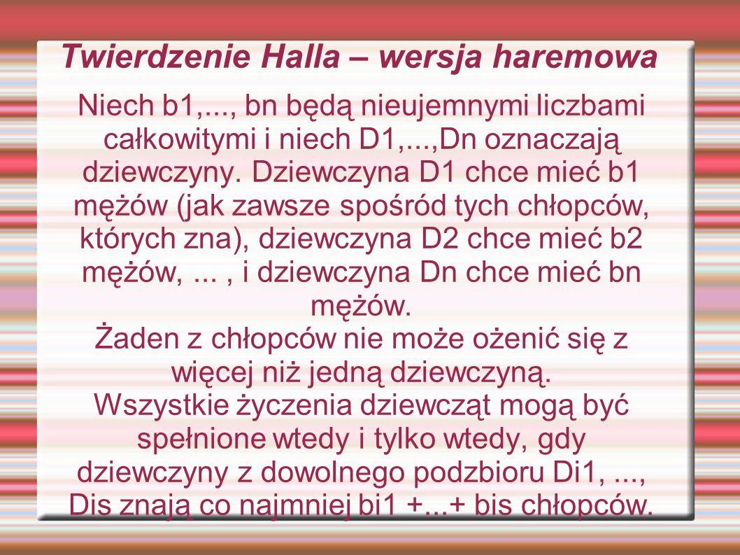 Twierdzenie Halla – wersja haremowa