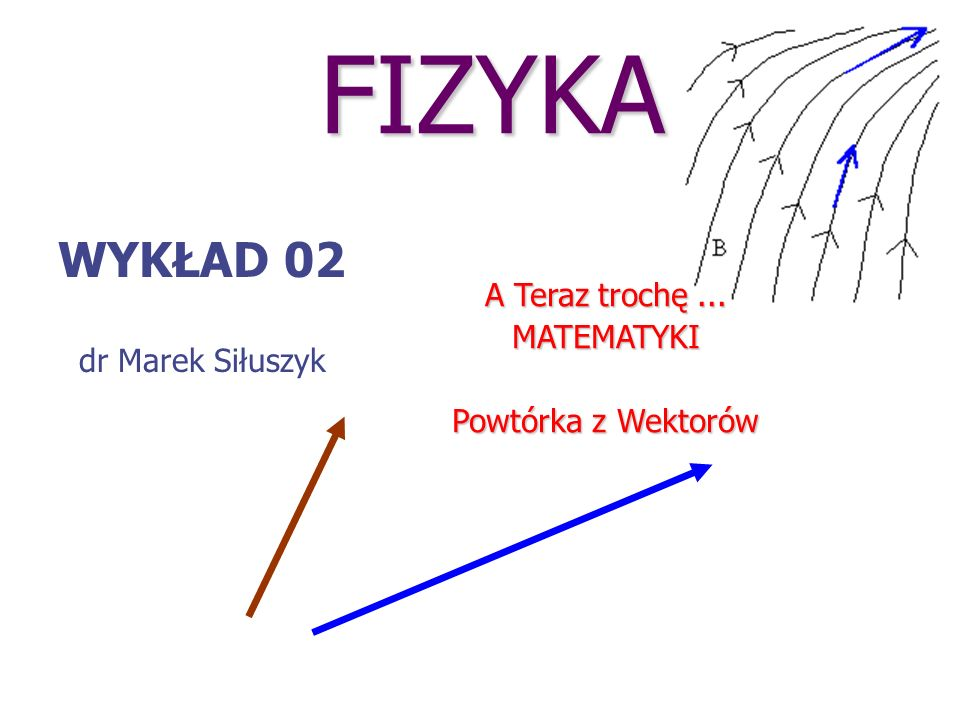 FIZYKA WYKŁAD 02 A Teraz trochę ... dr Marek Siłuszyk MATEMATYKI