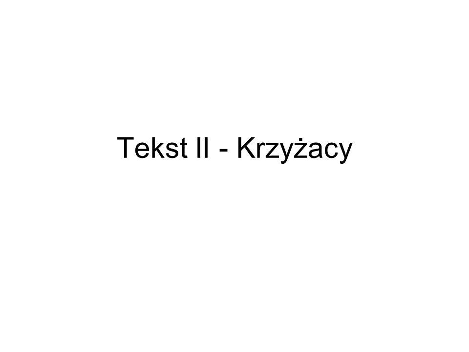 Tekst II - Krzyżacy