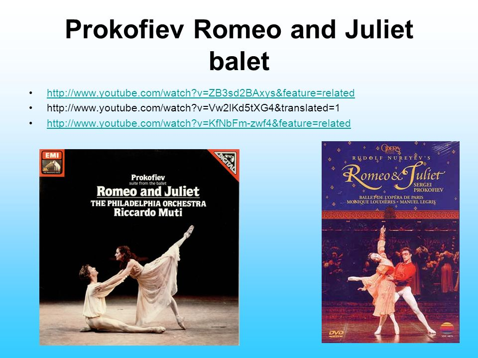Prokofiev Romeo and Juliet balet