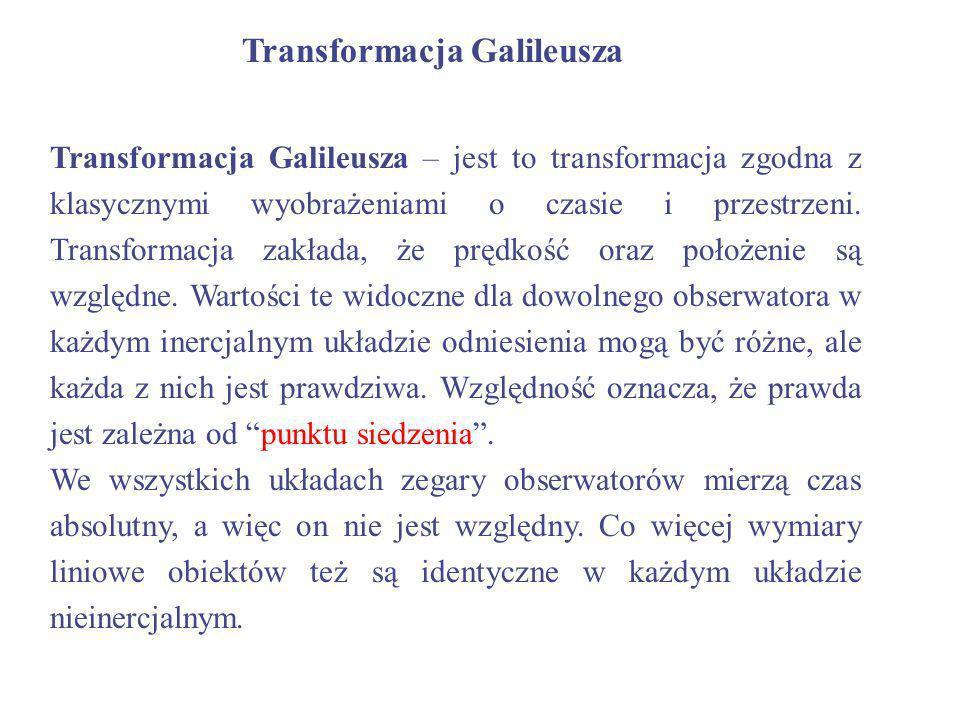 Transformacja Galileusza