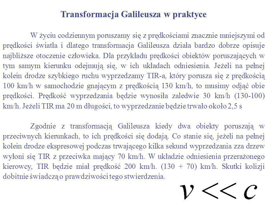 Transformacja Galileusza w praktyce