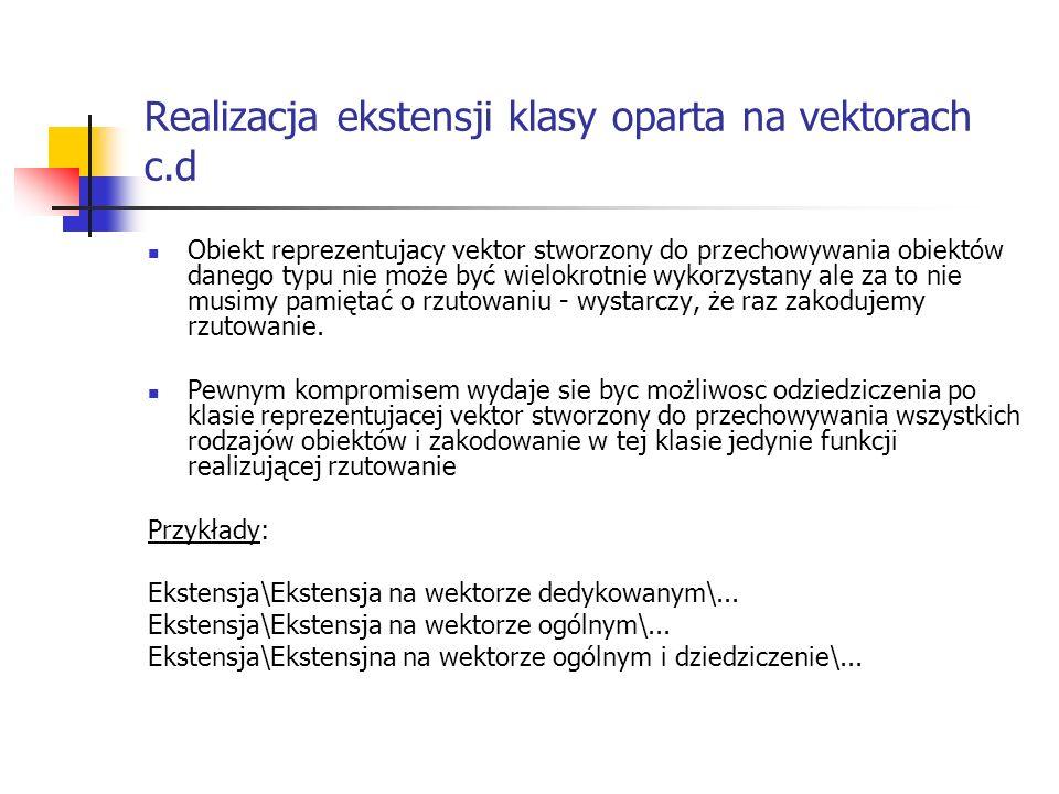 Realizacja ekstensji klasy oparta na vektorach c.d