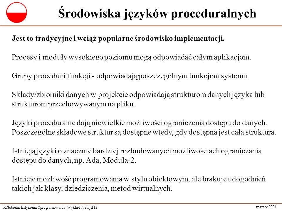 Środowiska języków proceduralnych