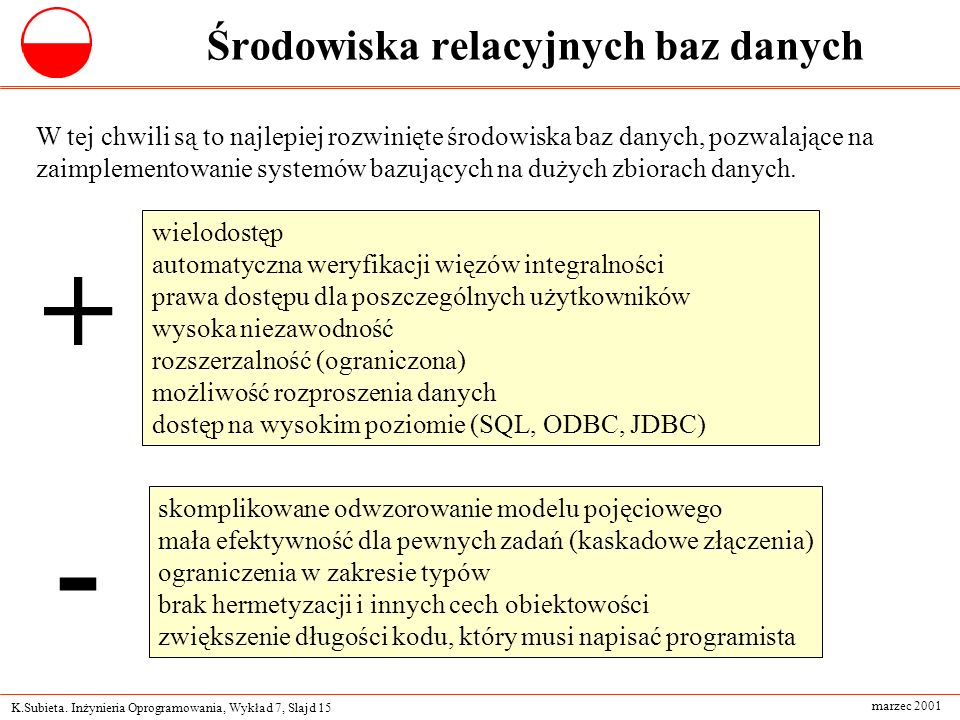 Środowiska relacyjnych baz danych