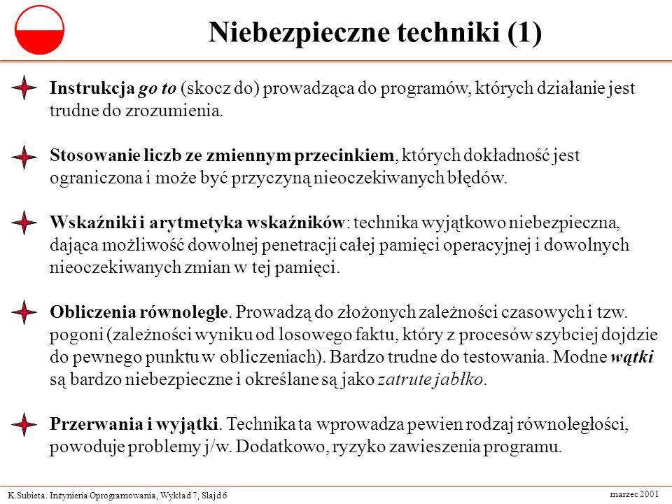 Niebezpieczne techniki (1)