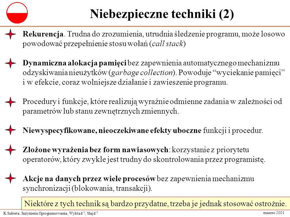 Niebezpieczne techniki (2)