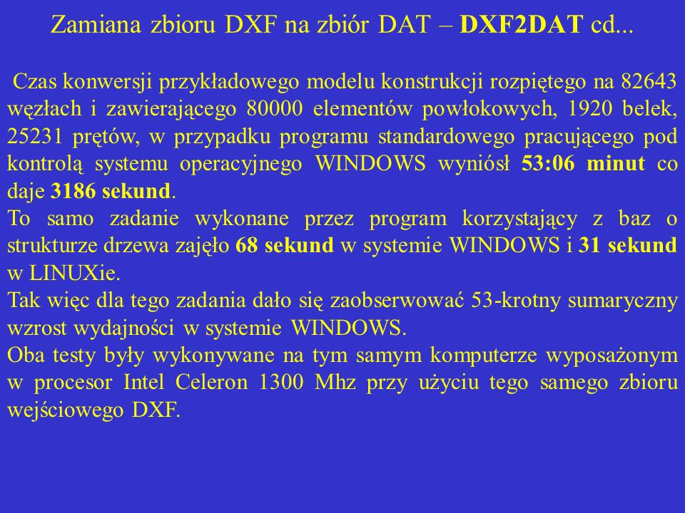 Zamiana zbioru DXF na zbiór DAT – DXF2DAT cd...