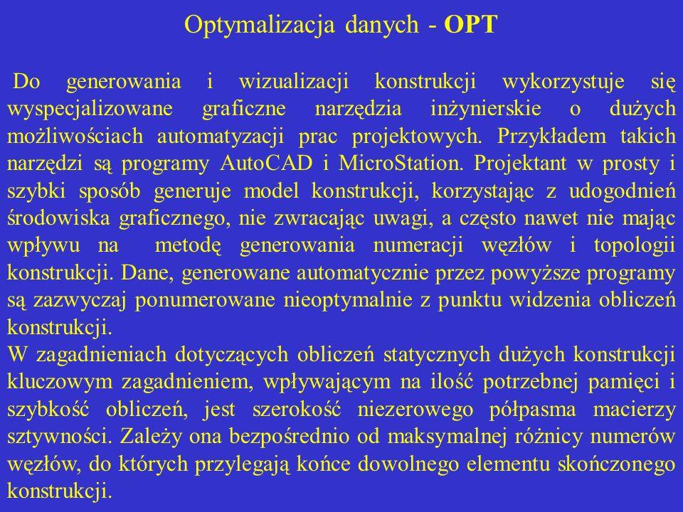 Optymalizacja danych - OPT
