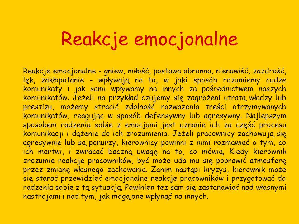 Reakcje emocjonalne